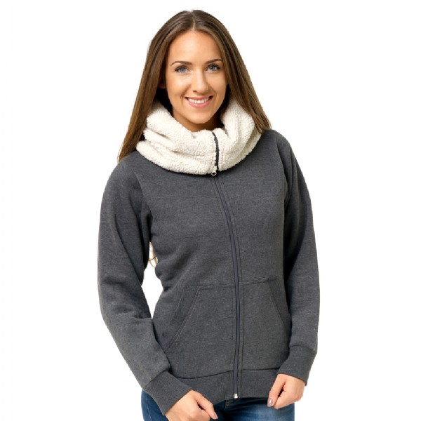 71edddf2b30d Elite fleece turtle neck hoodie with pouch pocket for phone and ...